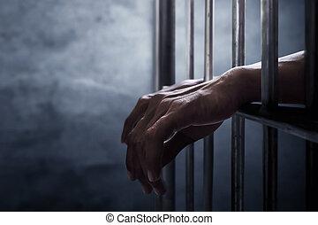 homem, prisão