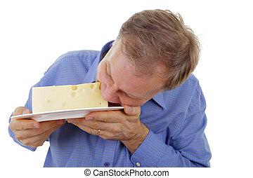 homem queijo