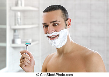 homem, raspar