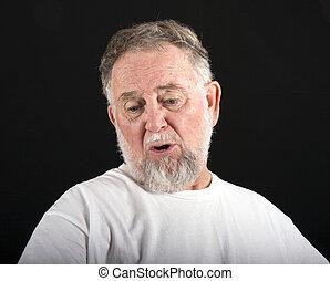 homem velho, aflição