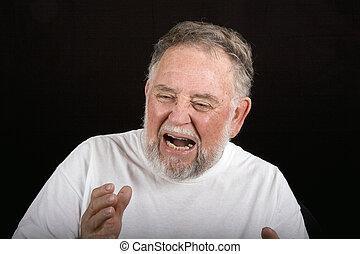 homem velho, dor