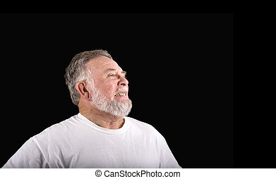 homem velho, grimacing