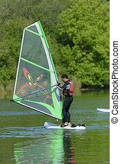 homem, windsurf