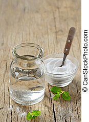 Natural Peppermint and  Bicarboante Mouthwash