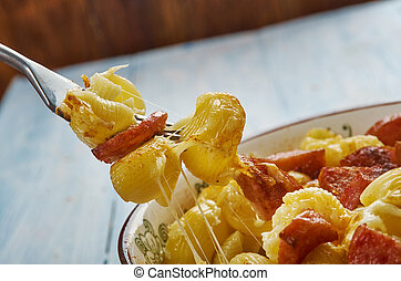 Andouille Sausage Macaroni Cheese - Homemade Andouille...