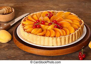 homemade apricot fruit tart
