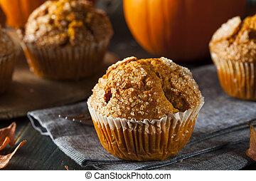 Homemade Autumn Pumpkin Muffin Ready to Eat