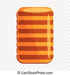 Homemade biscuit icon, cartoon style