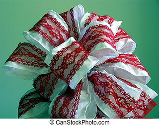 Homemade Bow - 3 - Homemade Christmas bow with green...