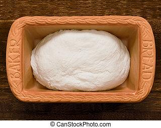 homemade bread making