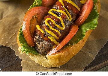 Homemade Burger Hot Dogs