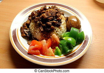 Homemade Chinese braised pork rice - This is the picture ...