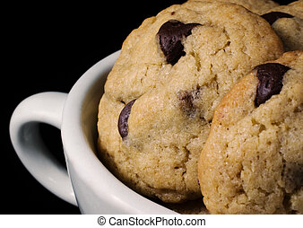 Homemade Chocolate Chip Cookies in a Mug