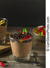 Homemade Chocolate Dirt Pudding