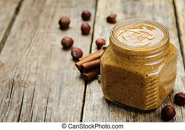 homemade cinnamon hazelnut butter - homemade toasted...