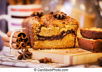 Homemade cinnamon loaf cake - Delicious fresh homemade ...