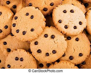 Homemade cocoa cookies