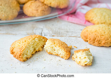 Homemade coconut cookies