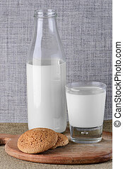 homemade cookies and milk on the table