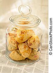 Homemade cookies in jar