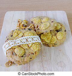 Homemade cookies with corn flakes 2