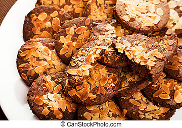 Homemade cookies with hazelnuts