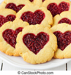 Homemade Cookies with Heart-Shaped Center