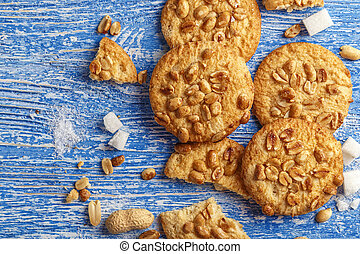 homemade cookies with peanuts