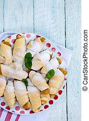 croissants with apple jam