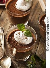 Homemade Dark Chocolate Mousse