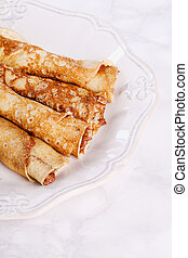 Delicious pancakes - Homemade. Delicious pancakes on the ...
