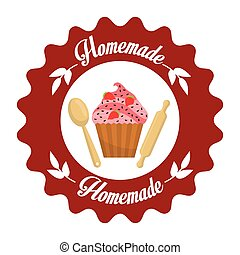 Homemade dessert graphic design, vector illustration eps10