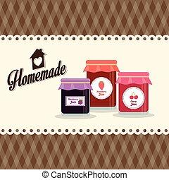 Homemade dessert recipe graphic design, vector illustration...