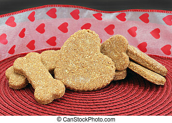 Homemade Dog Cookies for Valentine's Day