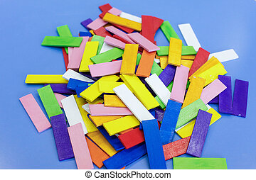Homemade educational wooden colorful toys