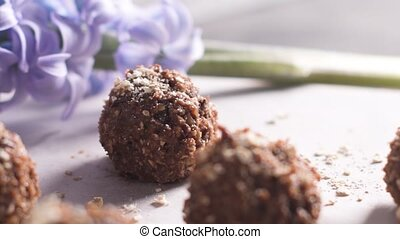 Homemade energy balls - Homemade fresh energy balls with...