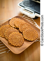 Homemade Ferratelle cookie