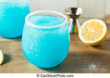 Homemade Frozen Blue Jack Frost Cocktail