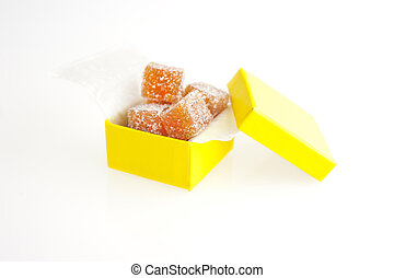 Homemade fruit candy as a gift