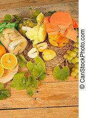 Homemade fruit preserves