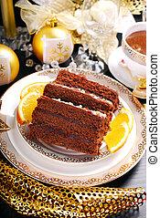 homemade gingerbread cake for christmas