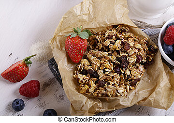 homemade granola for a healthy breakfast
