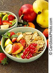 homemade granola muesli with fruit