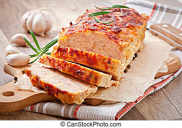 Homemade ground meatloaf