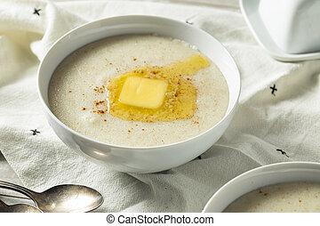 Homemade Healthy Creamy Wheat Farina Porridge