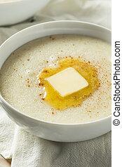 Homemade Healthy Creamy Wheat Farina Porridge for Breakfast