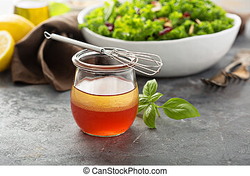 Homemade healthy salad dressing