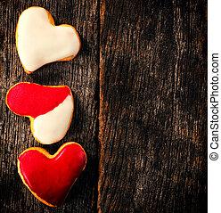 Homemade heart cookies