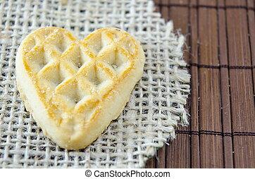 Homemade heart shaped galete