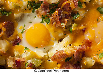 Homemade Hearty Breakfast Skillet with Eggs Potatoes and ...